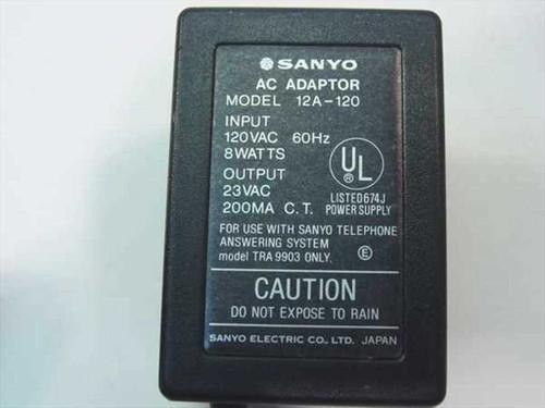 Sanyo AC Adapter 23VAC 200mA  12A-120