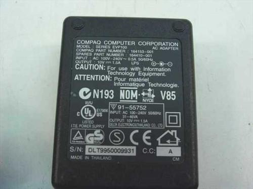 Compaq AC Adapter 10VDC 1.5A Barrel Plug (164410-001)