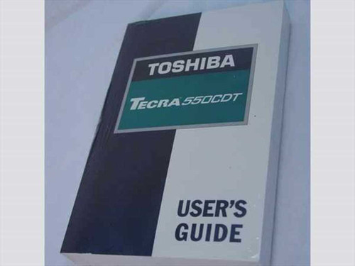 Toshiba C412-1197M1 Toshiba Tecra 550CDT User's Guide