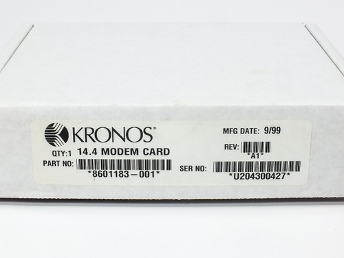 Kronos 460F 14.4 Modem Card for Time Clock Terminal - New in Box (8601183)