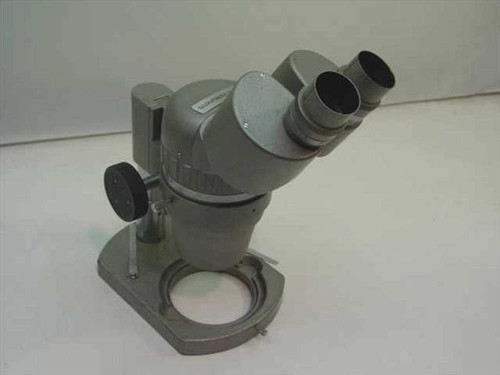 McBain Instruments Grey Binocular Microscope Head w/ Small Stand - No Eyepieces