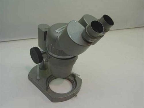 McBain Instruments Grey Binocular Microscope Head w/ Focus Block - No Eyepieces