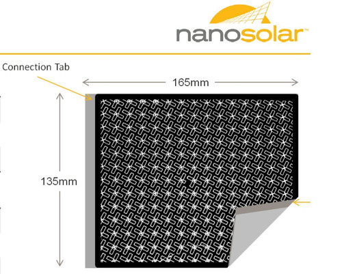 Nanosolar 2.6W Flexible CIGS Solar Cell - Lot of 10 NanoCells for a Total of 26W