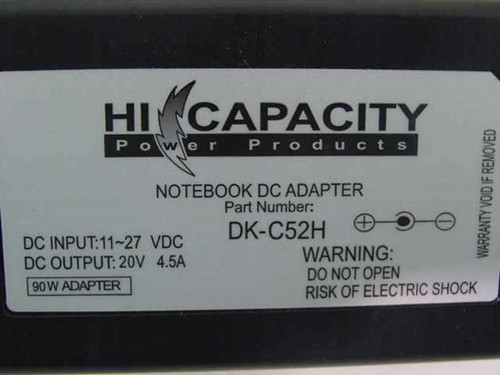 Hi Capacity 20 Volt 3-Pin Notebook DC Car Power Adapter (DK-C52H)