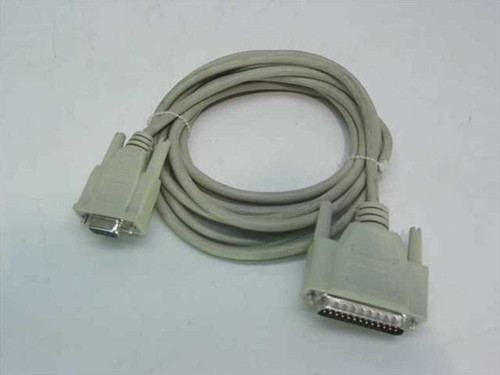 Unbranded DB-25 to DB-9 DB-25 Male to DB-9 Female Serial Modem Cable