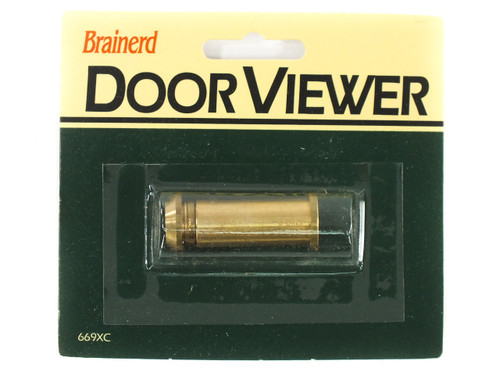 Brainerd 669XC 160° Wide Door Viewer / Peep Hole - Solid Brass - New Retail