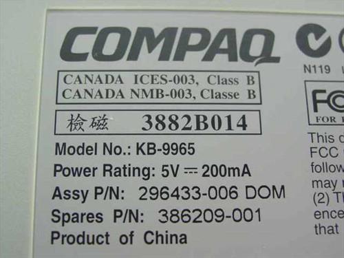 Compaq Keyboard KB-9965 386209-001