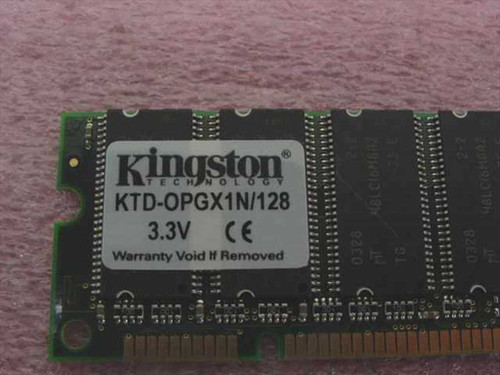 Kingston KTD-OPGX1N/128 128MB SDRAM Non-Parity 168-Min DIMM Memory