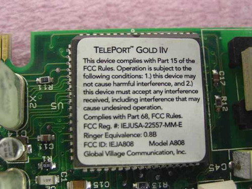 Global Village Teleport Gold IIv Macintosh Internal Modem - Apple (A808)