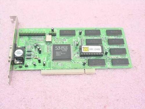 S3 ATC-2345C 4MB PCI VGA Video Card Virge 3D DX 86C375