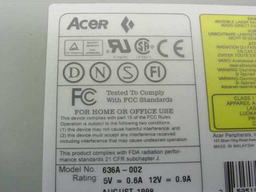 Acer 36x IDE Internal CD-ROM Drive (636A-002)