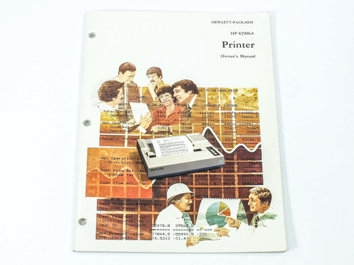 HP 82906-90001 82906A Printer Owner's Manual - 1983