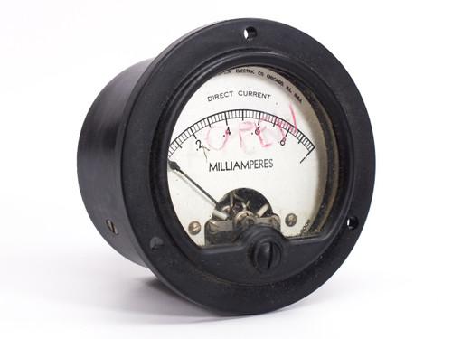 Simpson Electric 0-1 Direct Current Milliamperes Gauge Model 6006