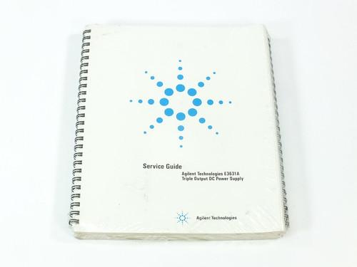Agilent E3631A  Triple Output DC Power Supply Service Guide & User's Guide