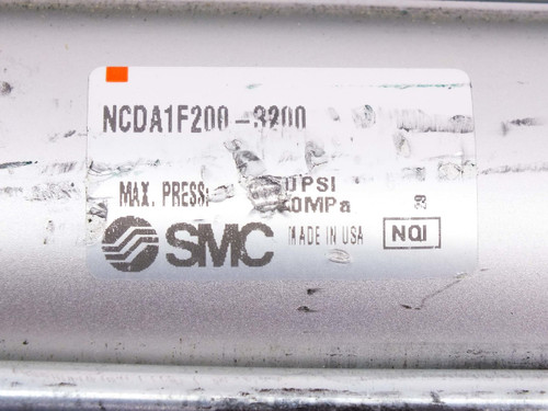 "SMC Pneumatic Cylinder w/ Sensor 32"" Stroke 2"" Bore 3/8"" NPT NCDA1F200-3200"