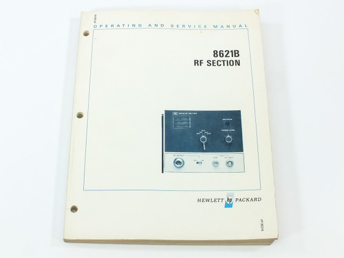 HP 8621B  RF Section Operating and Service Manual