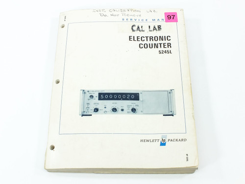 HP 05245-9022 5245L Electronic Counter Service Manual - 02349-3 02349-2- 1967