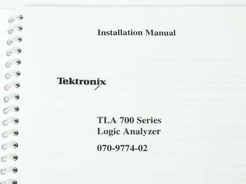Tektronix TLA 700 Series  Logic Analyzers Installation Manual