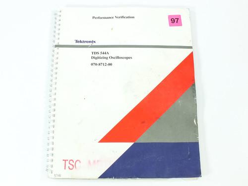 Tektronix TDS 544A  Digitizing Oscilloscopes Performance Verification