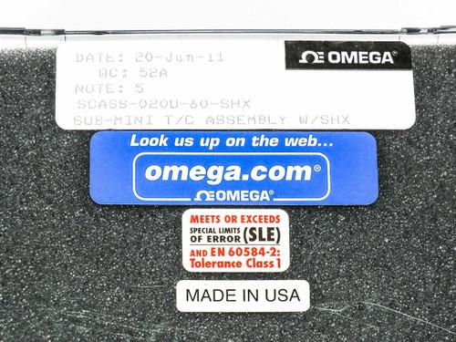 "Omega Pair of Temp Probes w/ Ceramic Thermocouple 60"" Sheath SCASS-020U-60-SHX"