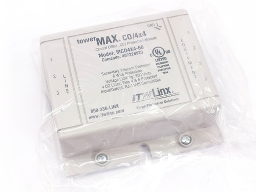 ITW Linx MCO4X4-60  Towermax CO/4x4 4-Line RJ-11/45 Surge Protector