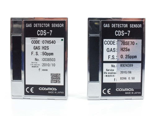 Cosmos CDS-7  Lot of 17 Gas Detector Sensors for H2S/H2Se/NH3