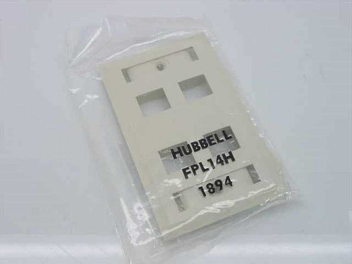 Hubbell Flush Plate with Label Fields, 4 Jack (FPL14H)