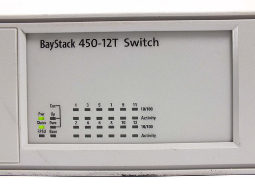 Nortel  388182-A AL2012A15 Bay Stack 450-12T Switch w/ 400-2FX MDA P119389-AR15