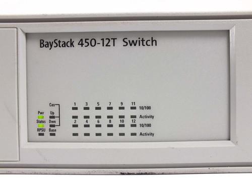 Nortel  388182-A AL2012A15 Bay Stack 450-12T Switch w/ 400-2FX MDA P119389-AR15