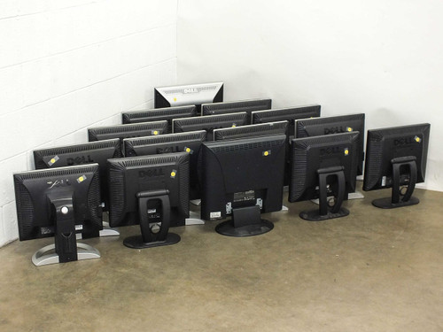 Lot of 15 Various Make and Model Computer LCD Monitors