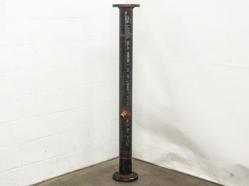 "Wheatland ASTM A 53   60"" x 4"" Schedule 40 Standard Pipe w/ Socket Weld Flanges"