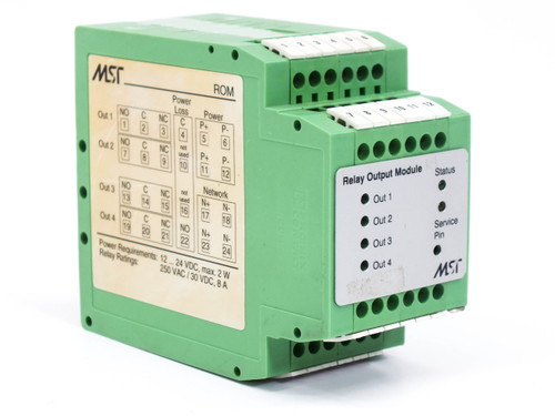 MST 9660-0110 4-Output Relay Module DIN-Rail Mounting ROC_V2.00