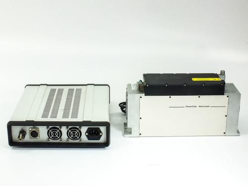 JDS Uniphase PNU-001025-100 PowerChip NanoLaser 200mW 1ns & Power Supply - As Is