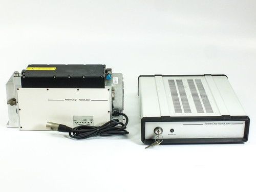 JDS Uniphase PNU-001025-100 PowerChip NanoLaser 200mW 1ns & Power Supply - As Is