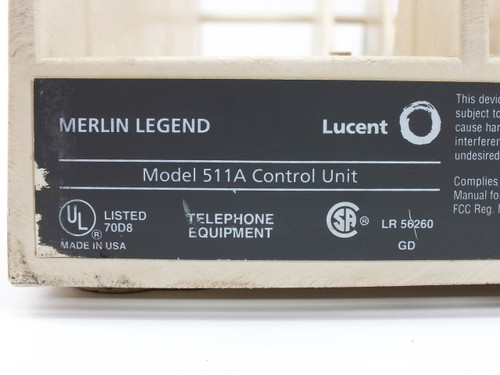 Lucent 511A Control Unit Merlin Legend Avaya AT&T - Phone System PBX 108059304