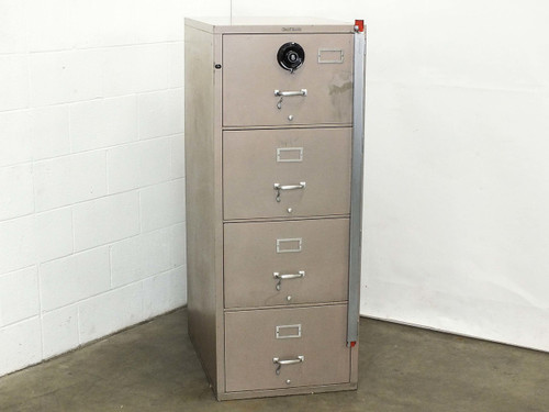 Shaw Walker G1 4-Drawer Insulated Fireproof Filing Cabinet with Combination Lock