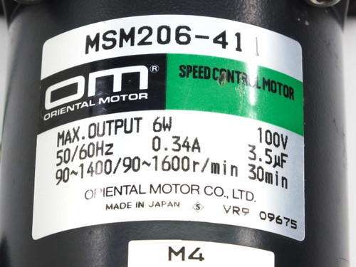 Oriental Motor MSM206-411  Speed Control Motor with Gear Head 2GN180K