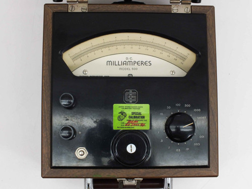 Greibach  Model 500 DC Milliamperes Meter with Optical Needle