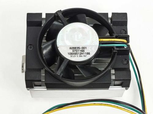 Intel A28835-001 Pentium CPU Processor Fan + Heatsink - A28837 070024A 080009A