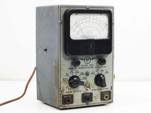 Radio City Products Model 664 VOM Multimeter / Multitester | VDC VAC and OHM