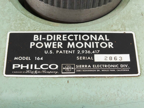 Philco 164 Bi-Directional Power Monitor - Ford / Sierra Electronic - As Is