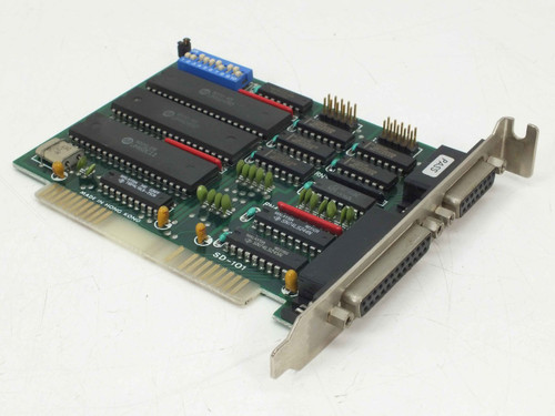 Vintage SD-101 8-Bit ISA Printer Controller Card w/ 15-Pin Game and 25-Pin Port
