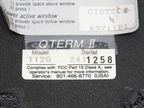 Cidtec  Control Interface QTERM-II T120