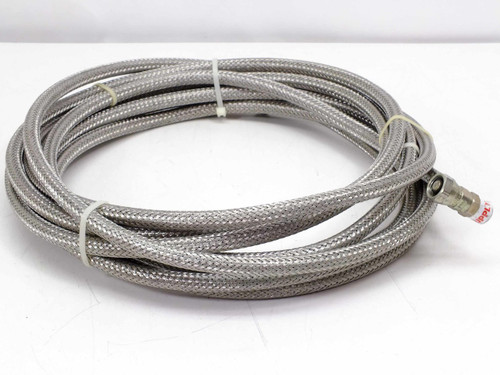 "Pair of 24' 1/2"" Braided Cryogenic Compressor Hose Line Female-Female 5400-S5-4"