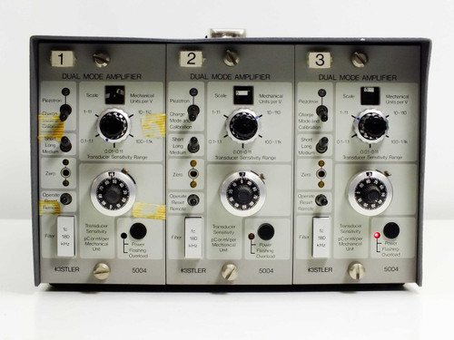 Kistler Instruments 5804 3-Channel Galvo Amplifier with 3 5004 Dual Mode Amps