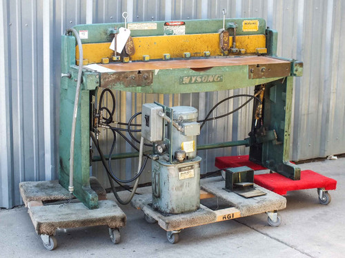 Wysong and Miles 1652 16 Gauge HEAVY DUTY Hydraulic Foot Shear- As Is