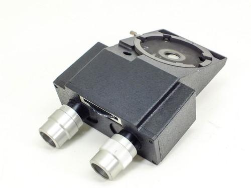 Binocular Microscope Head Block with Adjustable Eyepieces and Swivel Dial 51
