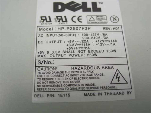 Dell 250 W ATX Power Supply 1E+115