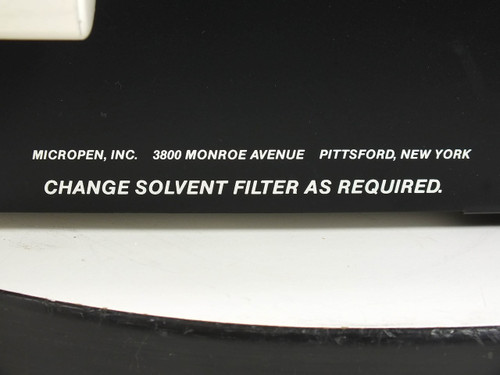 """Micropen Solvent Cleaning System with 20"""" x 10"""" x 4"""" Bath -AS-IS / FOR PARTS"""