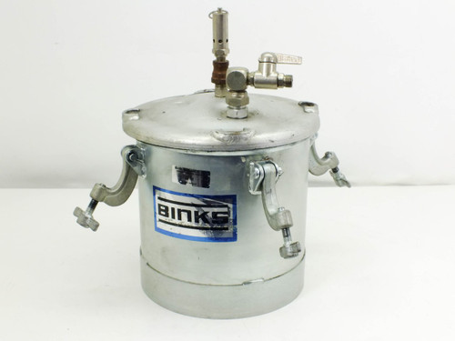 Binks 2.8 Gallon Pressure Paint Tank 160 PSI Gauge